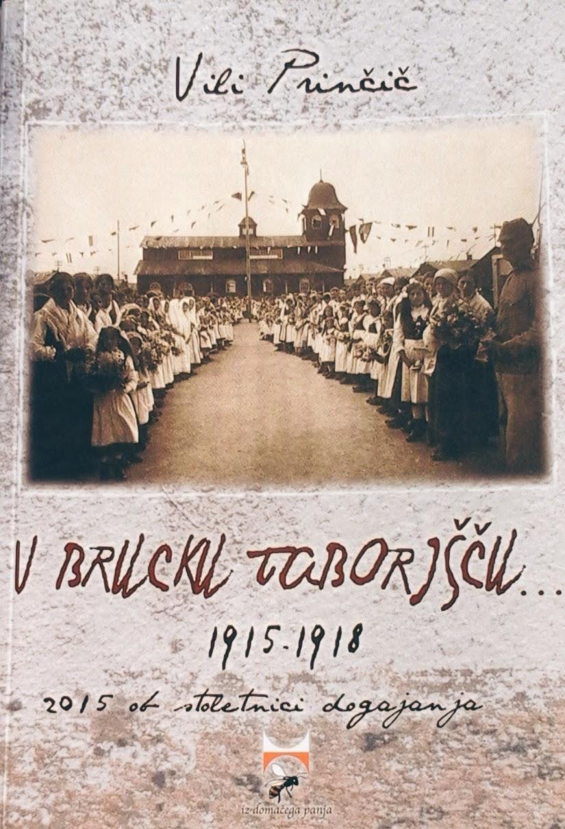 Naslovnica knjige V Brucku taborišču avtorja Vilija Prinčiča