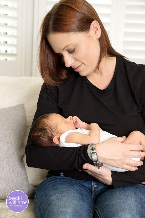 Newborn Photographer St Albans - mum & baby