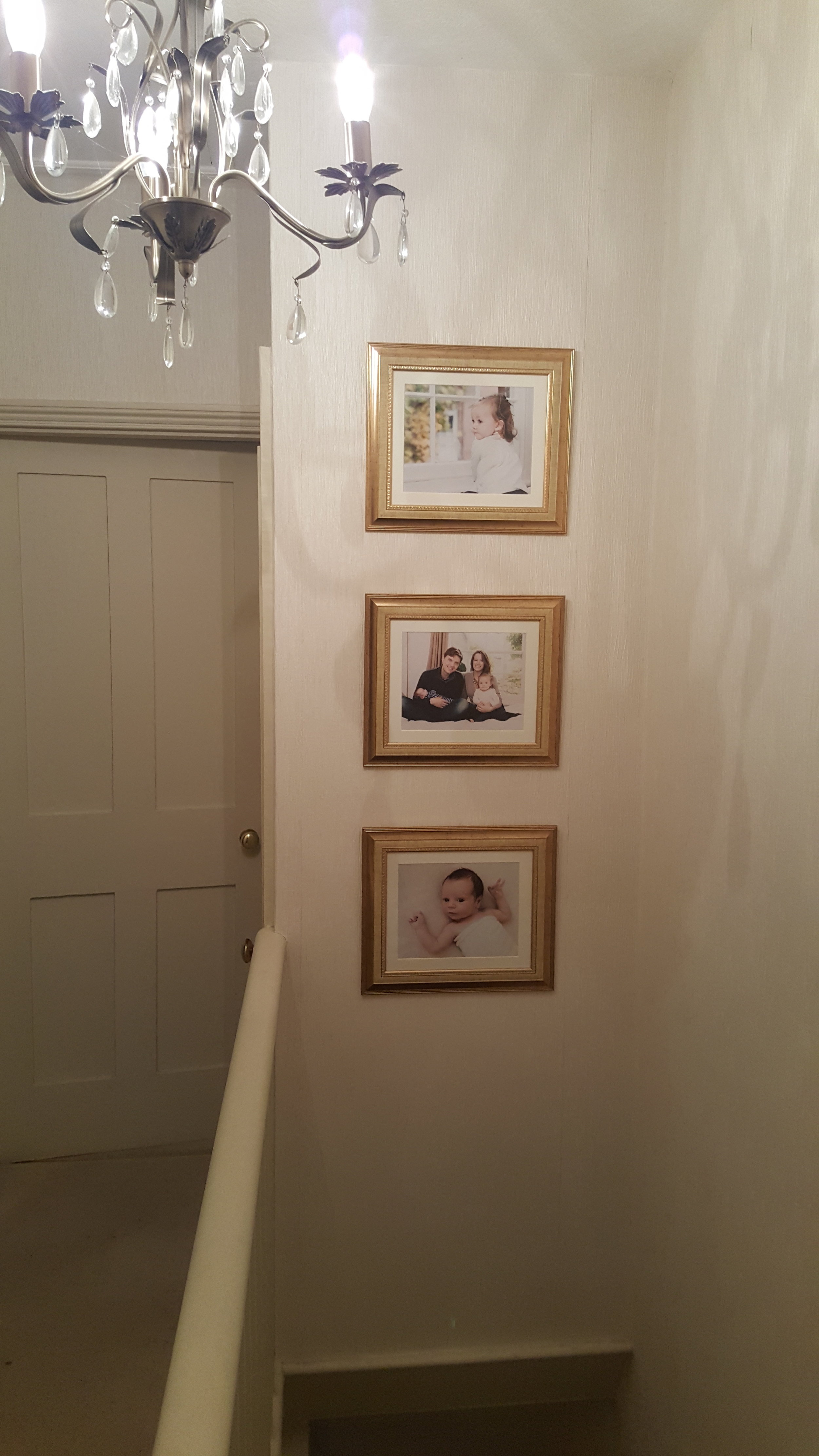 lifestyle family photography hanging on the wall