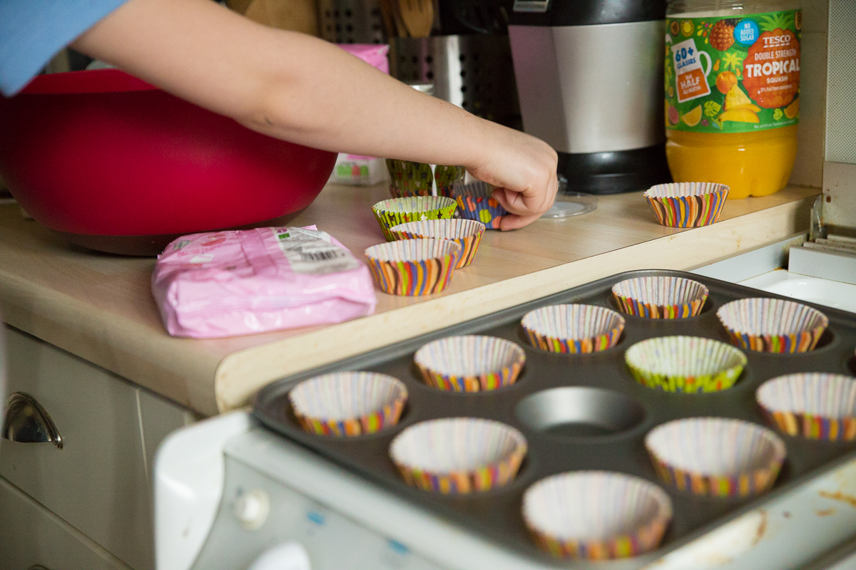 Child Photography Hemel Hempstead - Making cupcakes