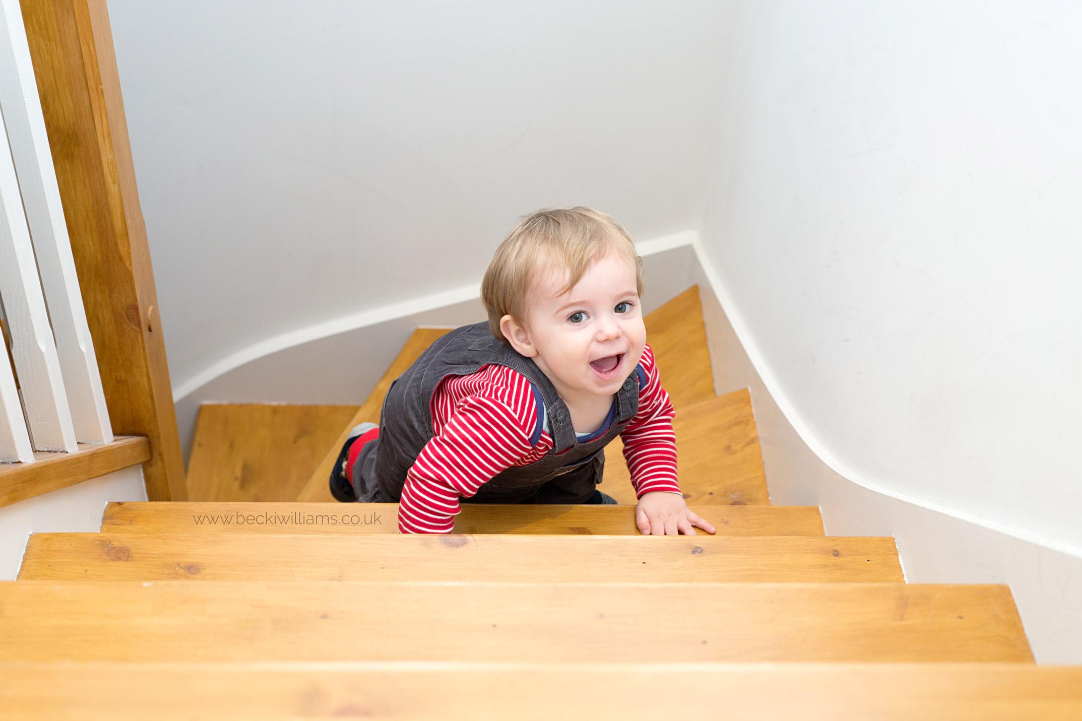 Baby-photography-hemel-hempstead-indoor-stairs-boy