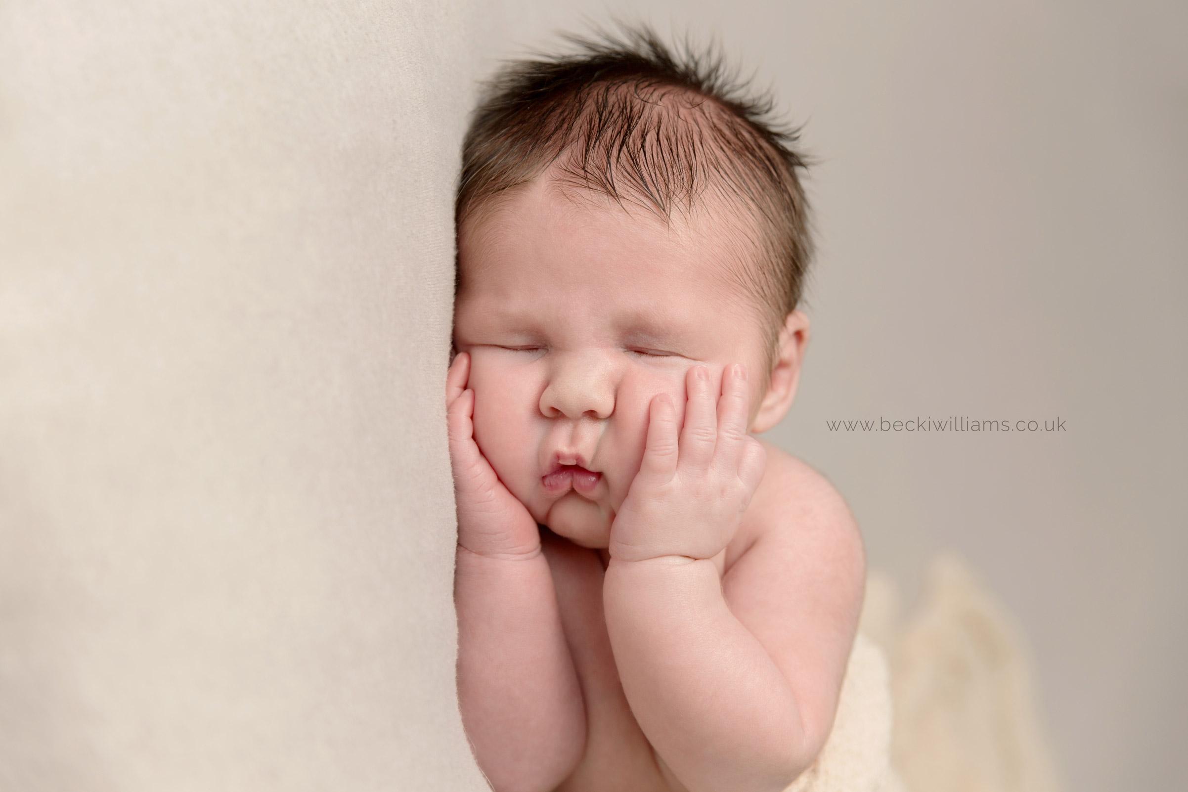 Newborn pictures in hemel hempstead - cute cheeks