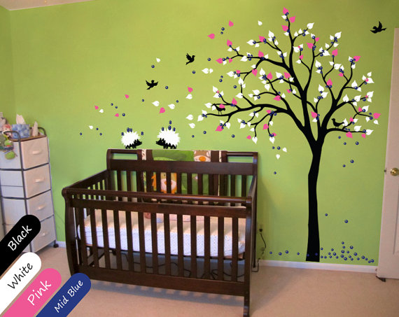 etsy wall stickers for a colourful nursery