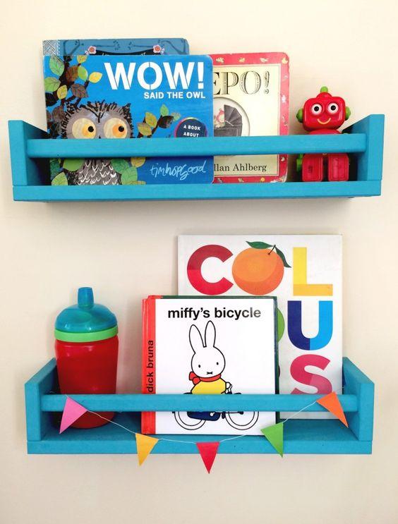 Ikea spice racks used as book shelves