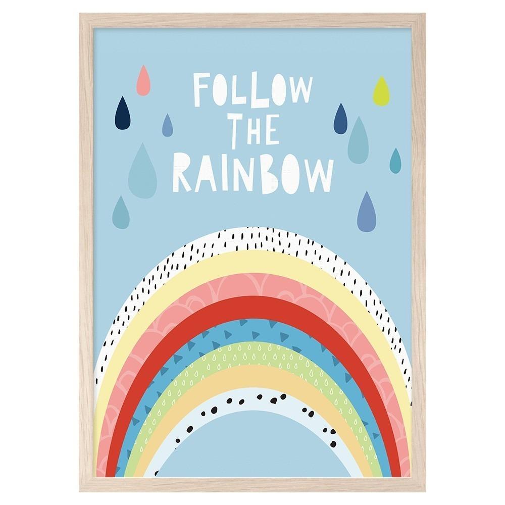 Follow The Rainbow print - Lullaby.co.uk