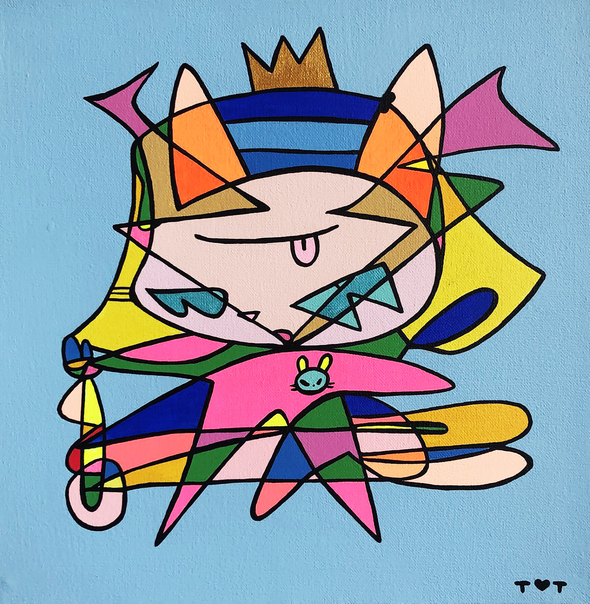 """Gato Samuray"" by TOT (Colombia) represented by HighArtGallery (Japan)"