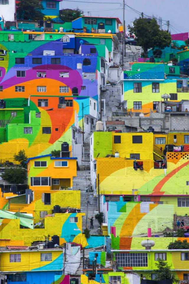 The Germen Crew wanted to bring beauty to an area that was lacking color, and show how public art can make a positive social impact.
