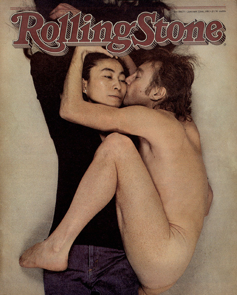 Rolling Stone cover featuring John Lennon and Yoko Ono, 1981 by Annie Leibovitz