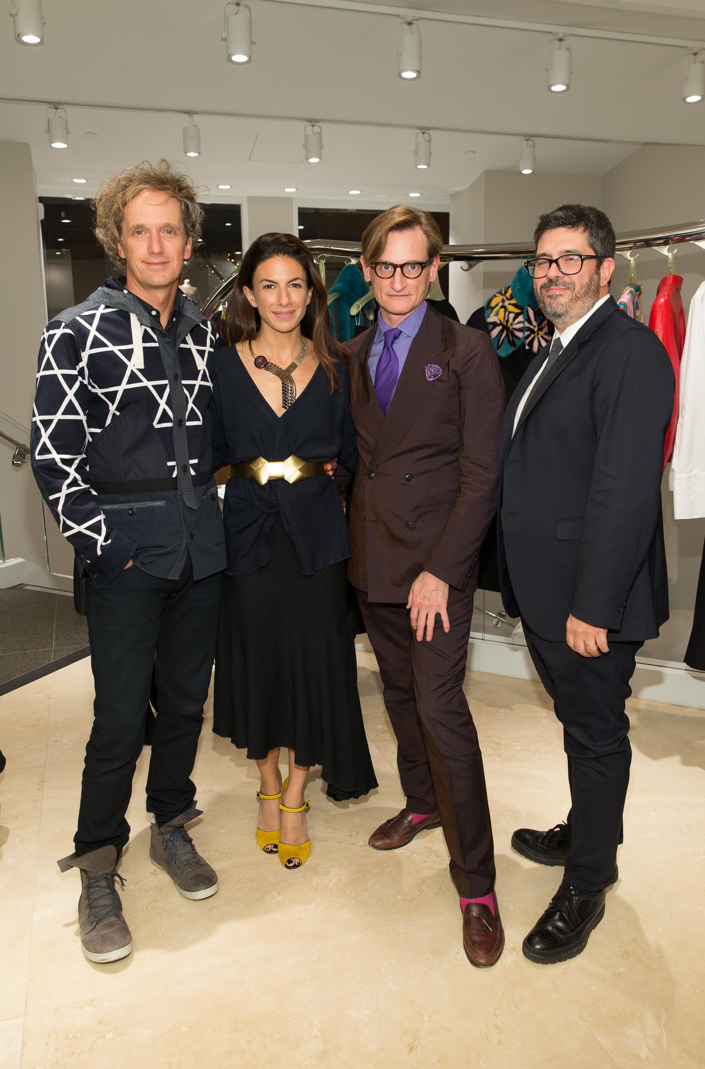 Yves Behar, Sabrina Buell ,  Hamish Bowles ,  Andrea Baldo. Photo Drew Altizer.