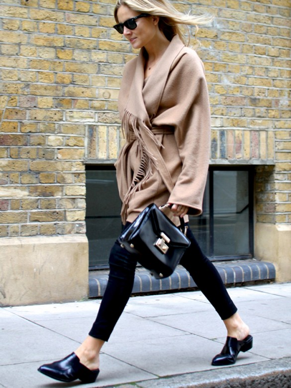 """Flat mules: Mules are the """"it"""" shoe this season and as easy to wear as your household slippers! Look for simple styles in basic colors for an effortless and elegant touch."""