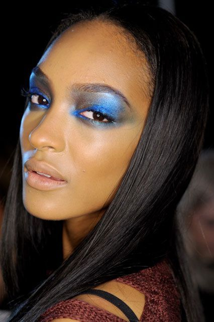 1. BLUE Accents of blue were prominent all week, especially on the eyelid!