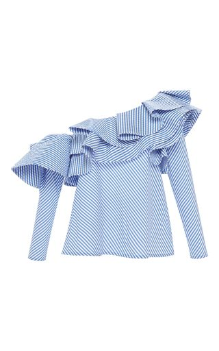 SHOP Anastasia One Shoulder Top by JOHANNA ORTIZ for Preorder on Moda Operandi