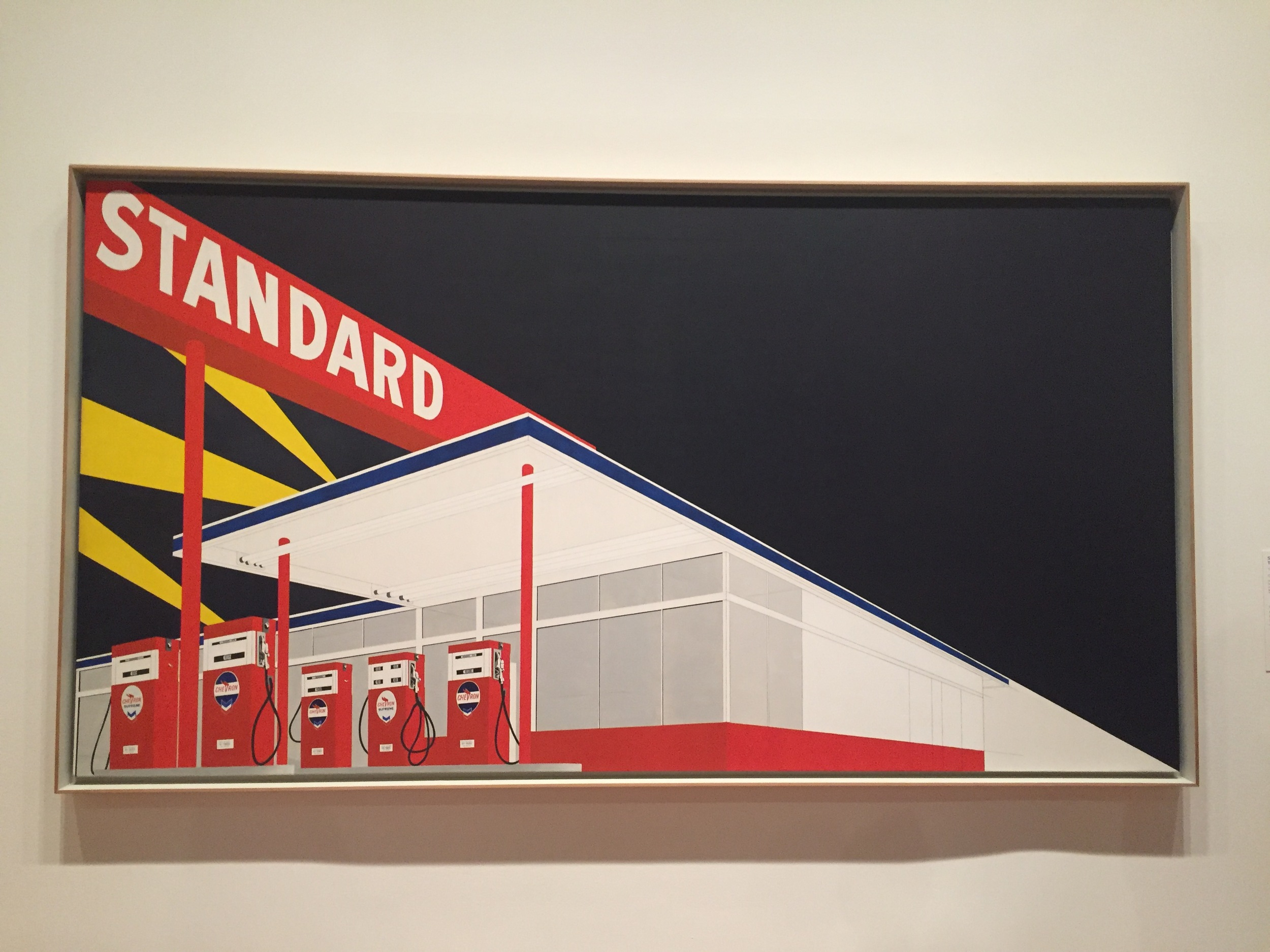 STATION 2003 - Ruscha created a number of sequels to his 1960s series of Standard station images roughly fifty years later.