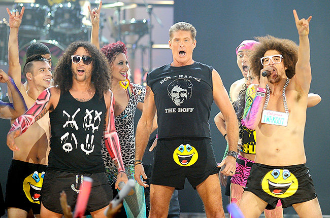 David Hasselhoff in 2011  David Hasselhoff is sexy and he knows it performing with LMFAO at the 2011 AMAs.