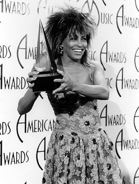 Tina Turner in 1985  Tine Turner showed of her AMA in 1985.