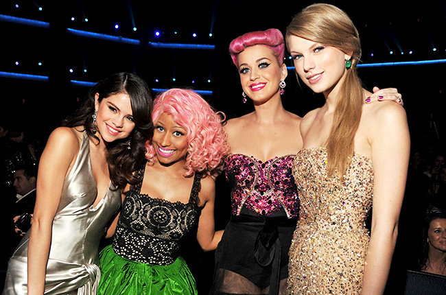 The Original Squad in 2011  Some of music's top ladies -- Selena Gomez, Nicki Minaj, Katy Perry and Taylor Swift -- joined forces for a photo at the 2011 American Music Awards.