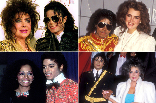 Michael Jackson & His Dates  Beyond hitting the stage at the American Music Awards, Michael Jackson also often brought interesting arm candy including Elizabeth Taylor (1993, 1986), Brooke Shields (1984) and Diana Ross (1981).