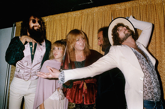 Fleetwood Mac in 1978  Fleetwood Mac vamps for the camera backstage at the 1978 American Music Awards.