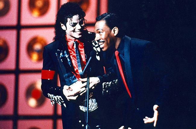 Michael Jackson & Eddie Murphy in 1989  Michael Jackson and Eddie Murphy at the 1989 AMAs.