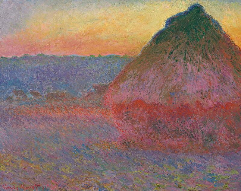 Claude Monet,  Meule , 1891, oil on canvas. Estimate: available upon request, around $45 million; realized: $81.4 million.  CHRISTIE'S IMAGES LTD., 2016