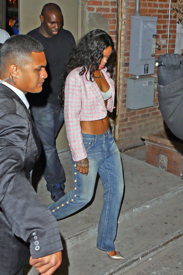 Rihanna-supper-club-balmain-pink-tweed-blazer-and-pearl-embellished-jeans-mon-tresor.jpg