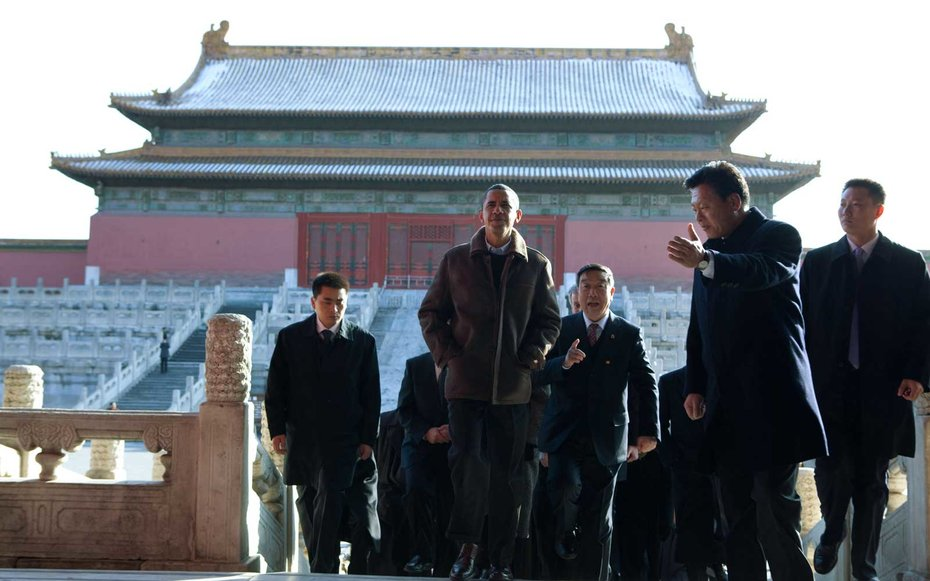 Forbidden City in Beijing, China  Obama embarked on a tour of China's Forbidden City in the summer of 2009.