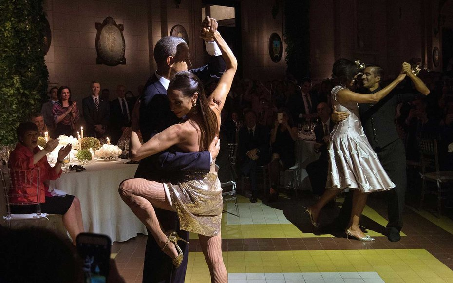 Argentina  Obama partakes in a Tango lesson while visiting Argentina.
