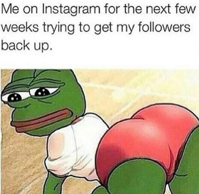 """On December 18th, 2014, rapper Nicki Minaj posted an illustration of Pepe bent over and prominently displaying his buttocks with the caption """"Me on Instagram for the next few weeks trying to get my followers back up"""" (shown below). Over the next two years, the post received more than 281,000 likes and 13,900 comments."""