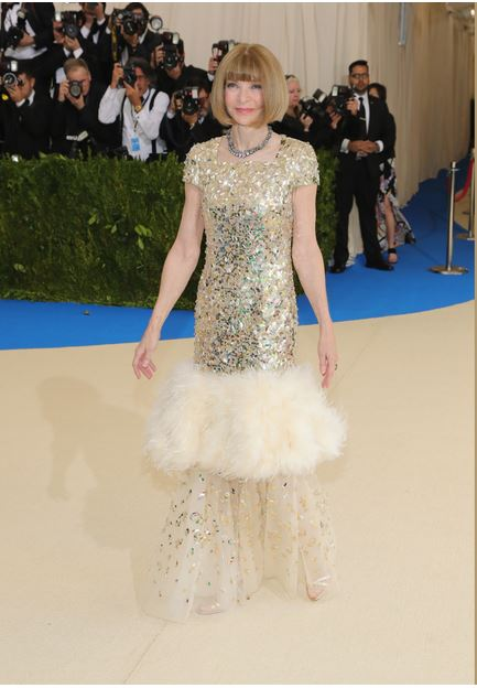 Anna Wintour,wearing Chanel -