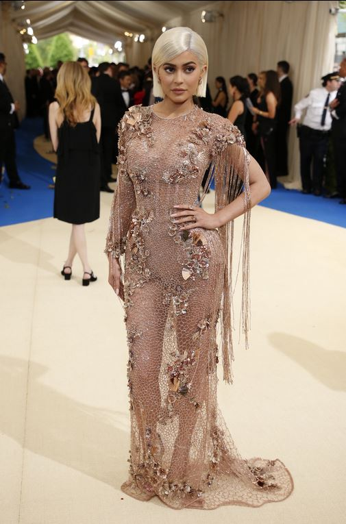 Kylie Jenner wearing Versace. -