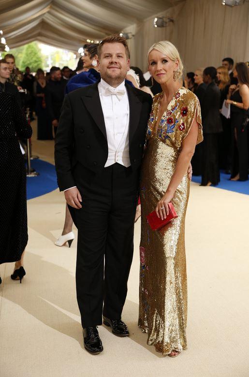 James Corden and Julia Carey -