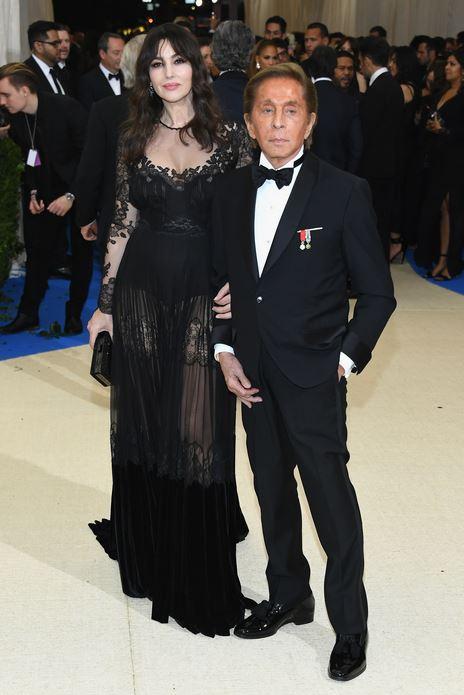 Monica Belluchi and Valentino Garavani -