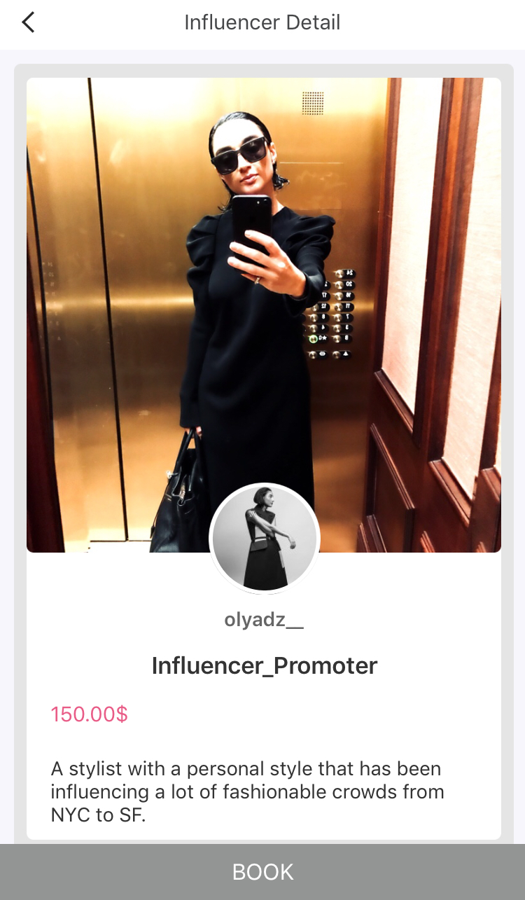 As an influencer you get to list your price per promotion. You have the ability to reject or accept booking offers, you are in complete control of who you want to collaborate with. Once you accept booking, you are to post promotion of the product on social media account.