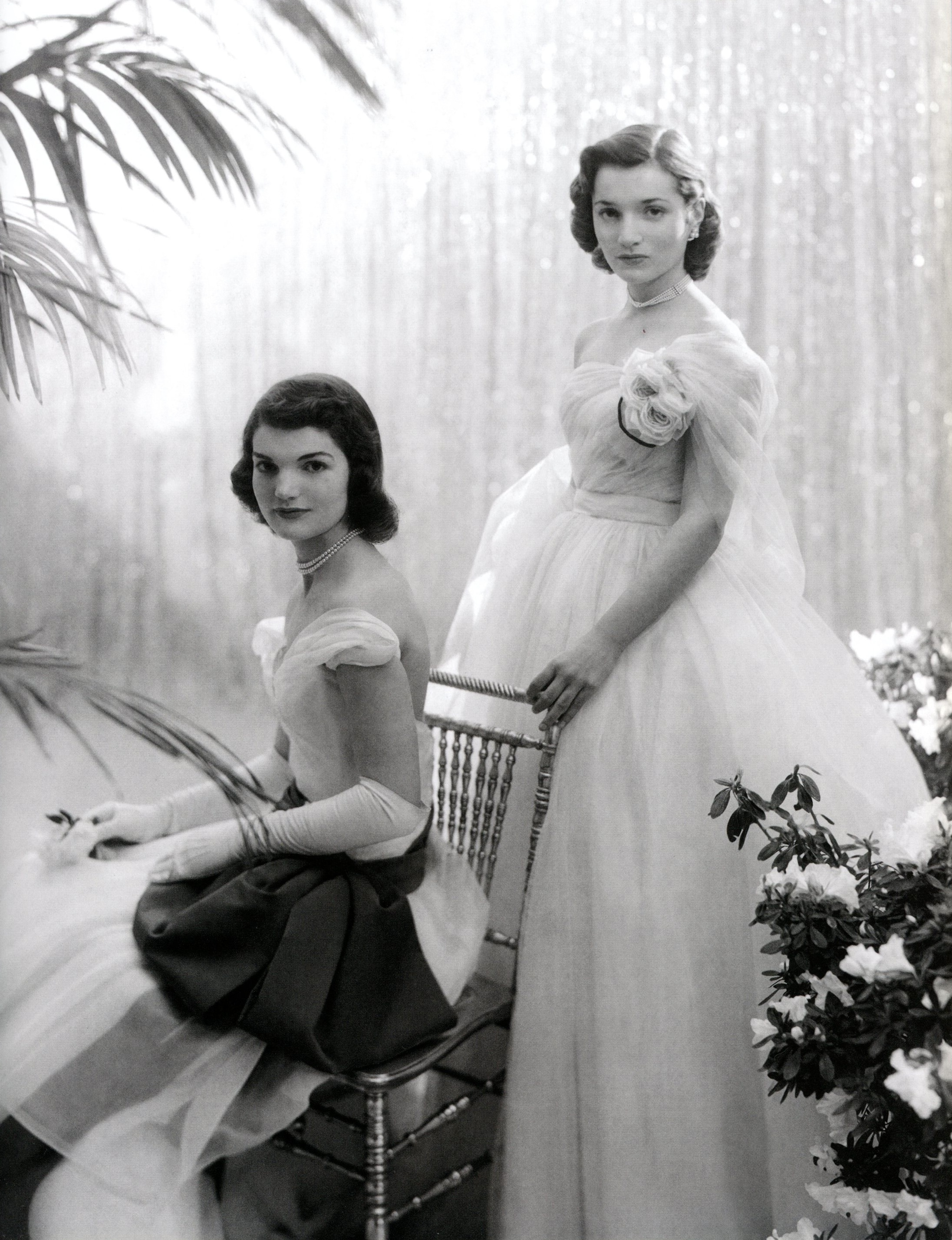 Jacqueline and Lee Bouvier before their debutante ball
