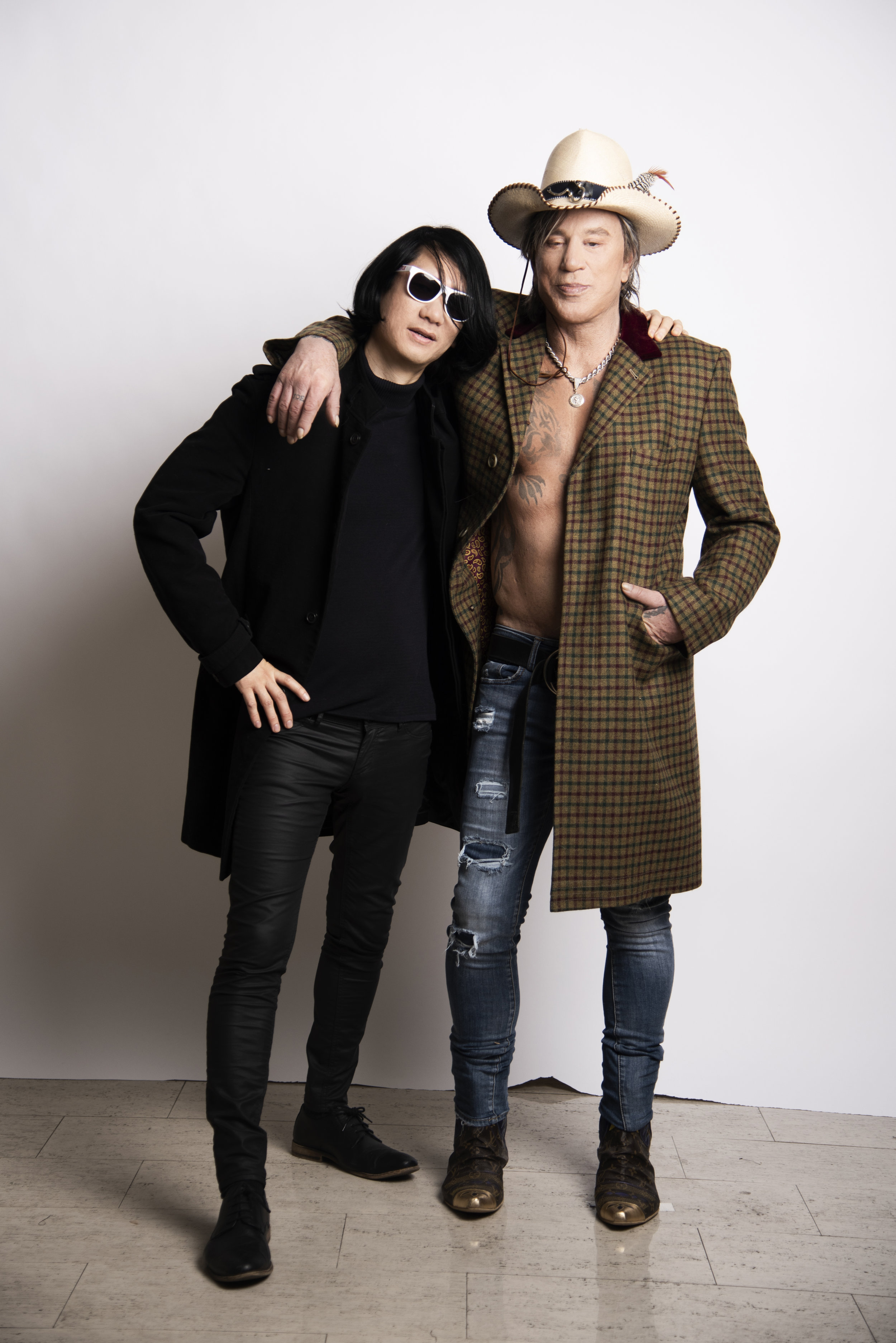 Brian Metcalf and Mickey Rourke