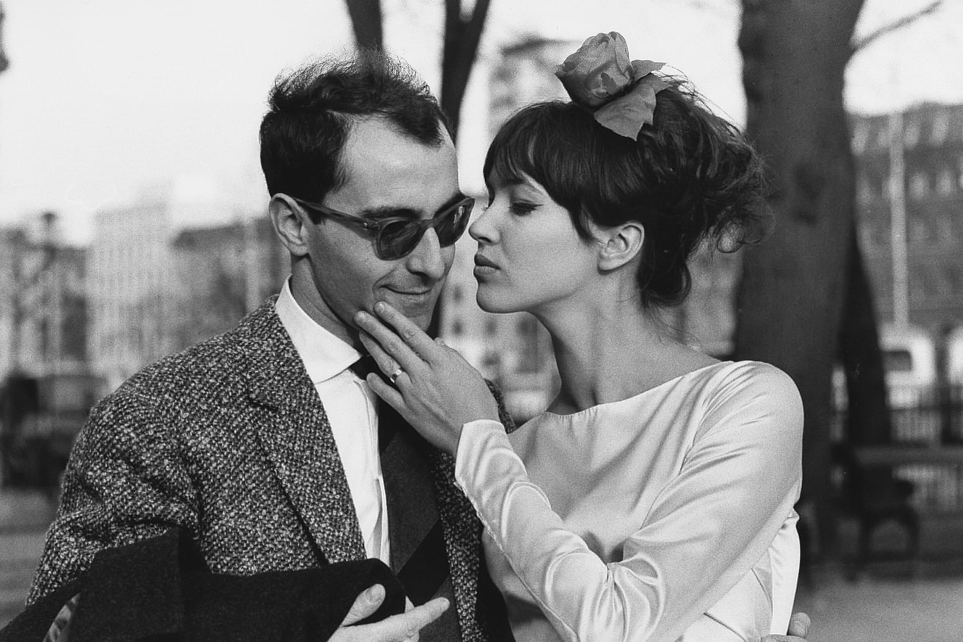 Anna Karina at her wedding to Jean-Luc Godard March 7, 1961 in Switzerland via @GettyImages