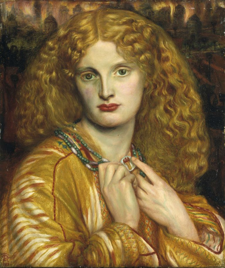 AN 1863 DEPICTION OF HELEN OF TROY. GETTY IMAGES
