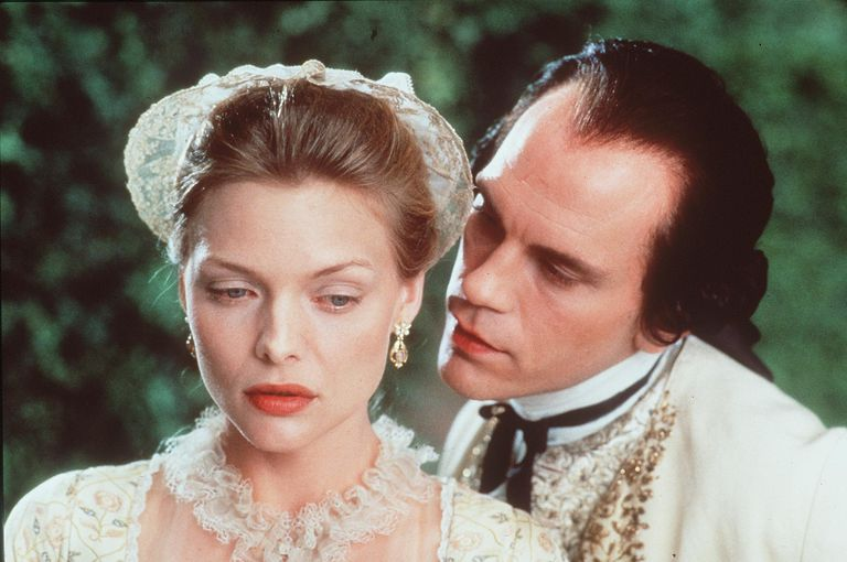 LACLOS'S DANGEROUS LIAISONS HAS BEEN SEDUCING READERS, NOT TO MENTION PLAYWRIGHTS AND FILMMAKERS (PICTURED HERE, MICHELLE PFEIFFER AND JOHN MALKOVICH IN A 1988 ADAPTATION), SINCE IT DEBUTED IN 1782. GETTY IMAGES GETTY IMAGES