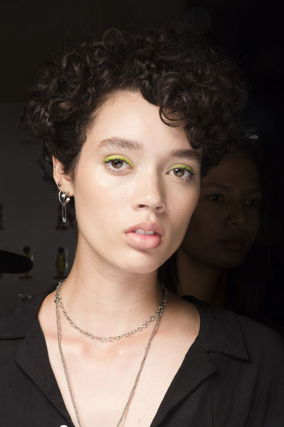 Colored eyeliner by Christian Siriano