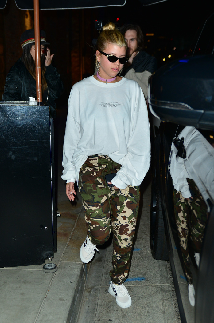 Sofia Richie Out In Adidas Fashion After Signing With The German