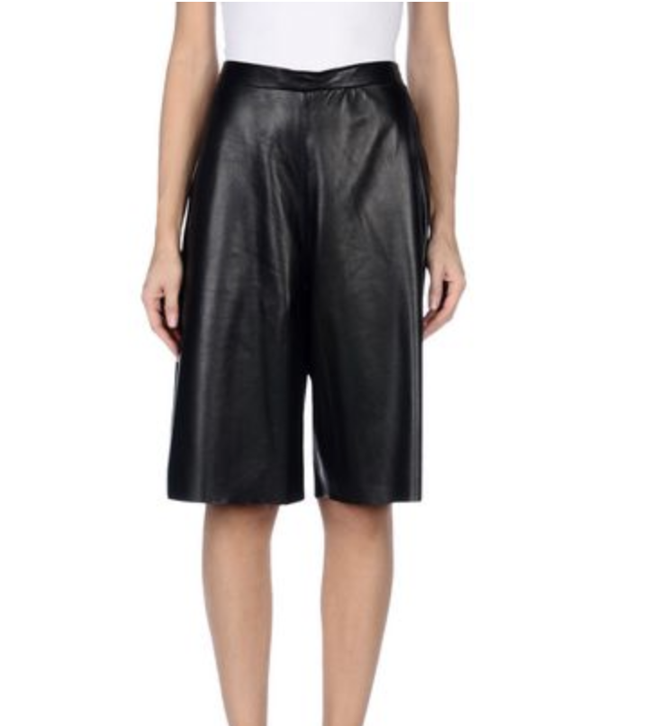 Wide Leather Bermudas
