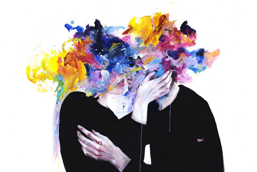 There is a crack in everything, that's how the light gets in. — Leonard Cohen  Artist: Agnes-Cecil