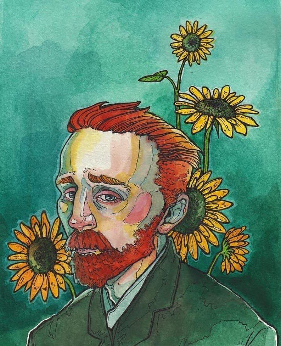 I would rather die of passion than of boredom.   — Vincent Van Gogh . Artist: @greenlamp_art