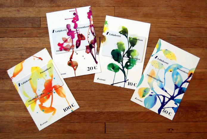 Stina Persson / S-Pankki gift cards