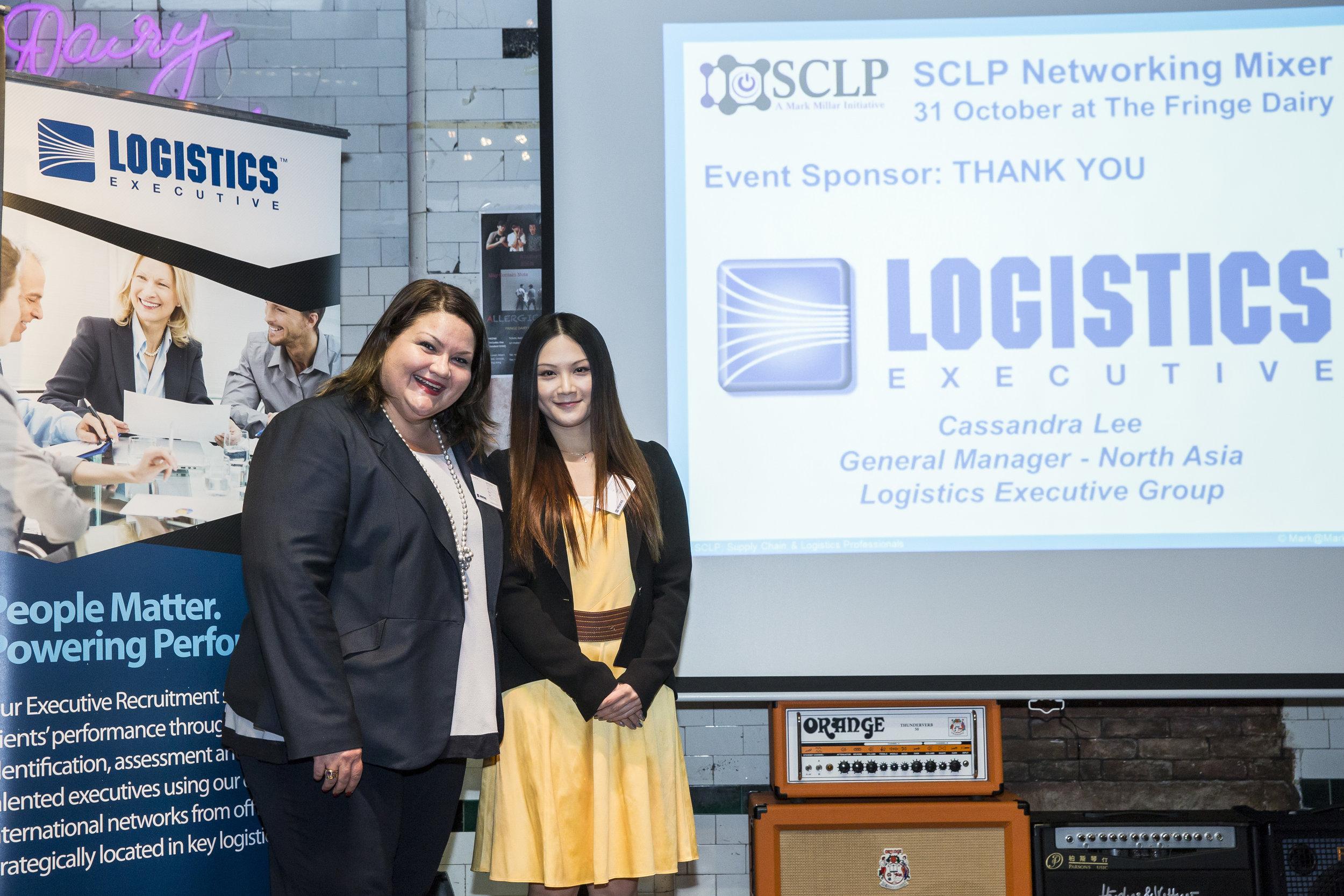 Sponsor - Logistics Executive, Cassandra Lee and Fiona Leung