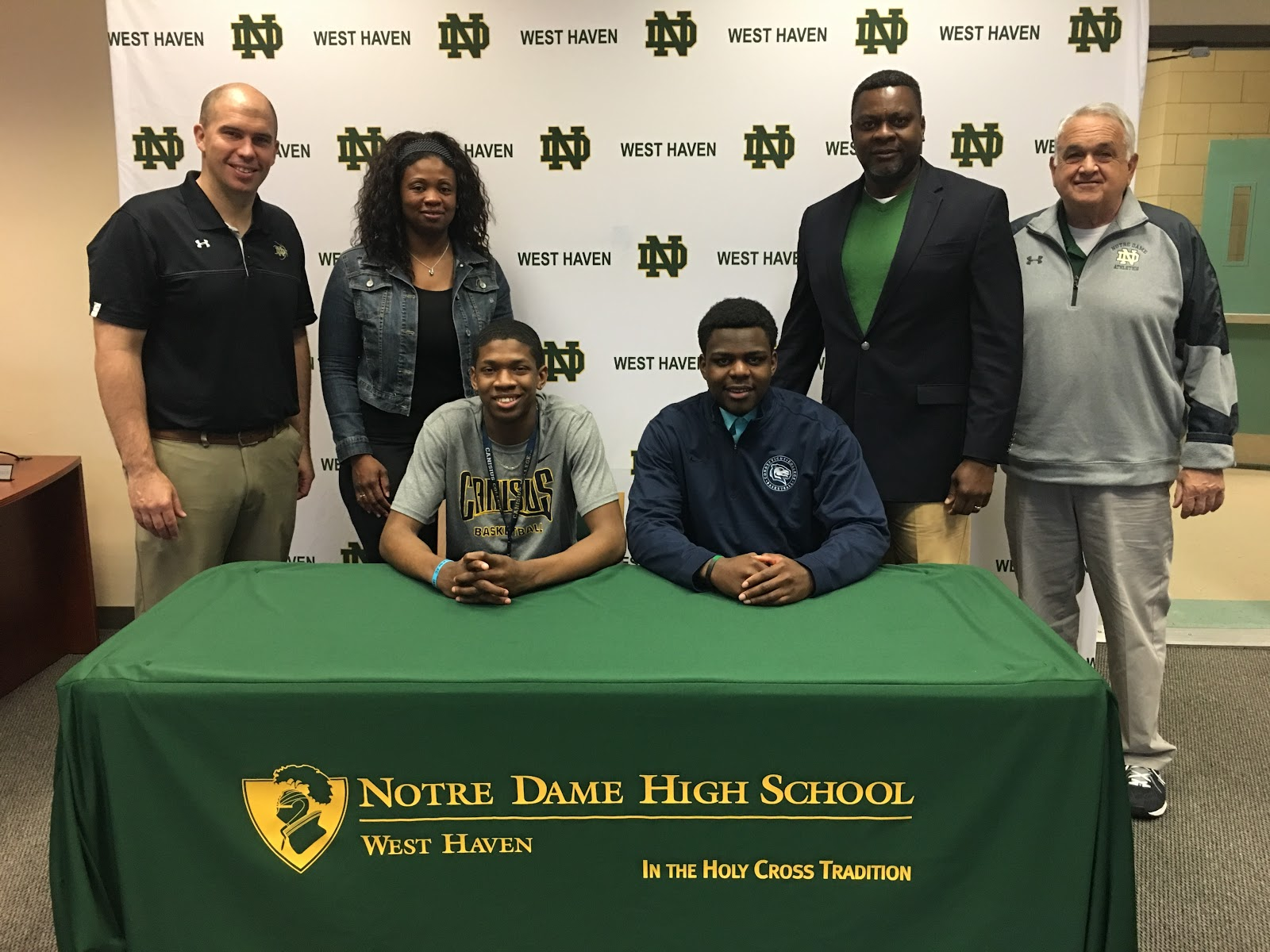 ND & CBA alums Jalanni White and Chuck Dikko on signing day