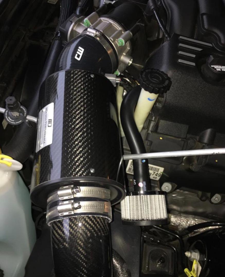 dodge charger scat pack intake 2-2 DODGE CHARGER/CHALLENGER SCATPACK 2.2L V2 HEMI — CARBON COLD AIR  INTAKE — MDesign Performance