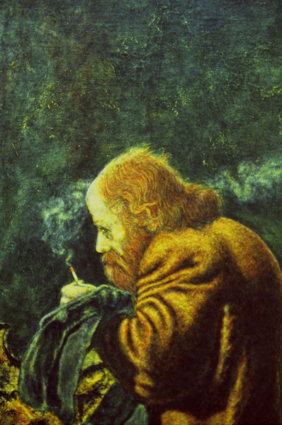 Detail of Old Man and the Green Wall