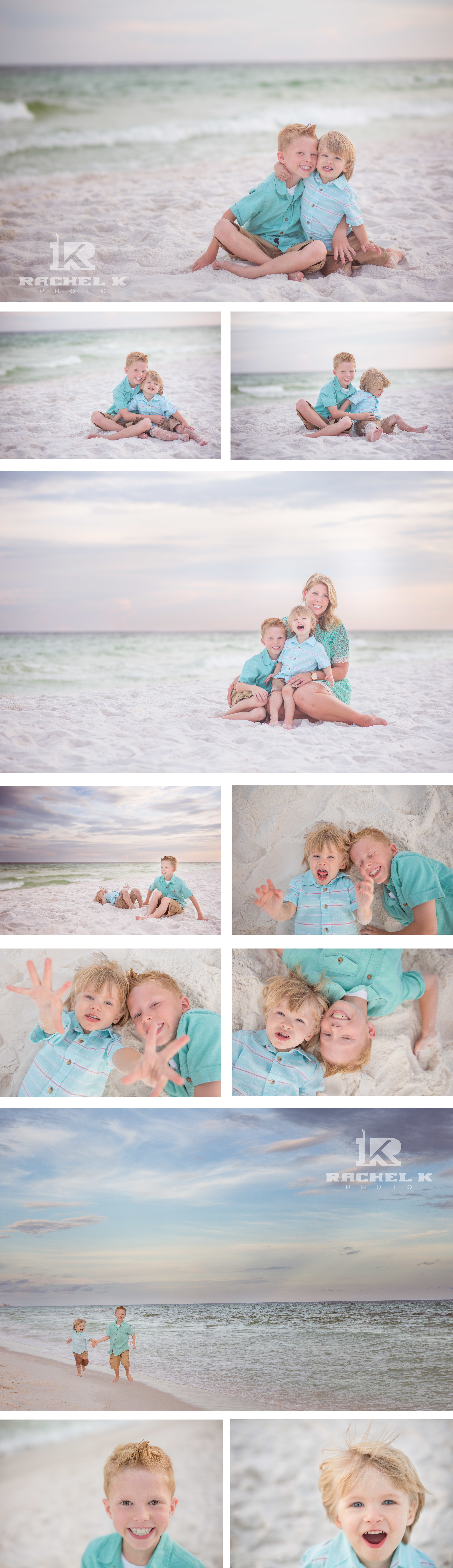 Beach family session by knoxville family photographer Rachel K Photo