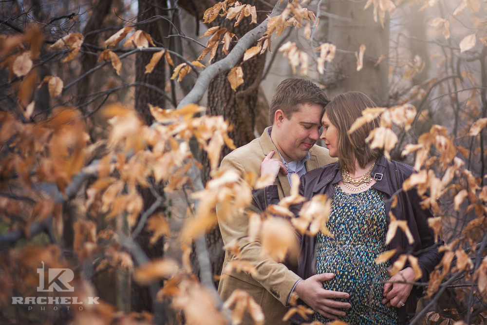 Couple maternity photo by Rachel K Photo